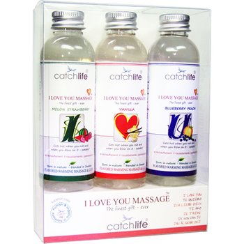 I love you presentförpackning Massageolja 3x75ml