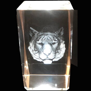 Kristallkub Tiger