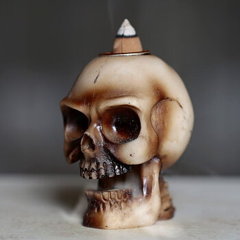 Dödskalle Backflow Rökelsebrännare