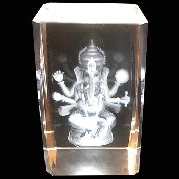 Kristallkub Ganesha