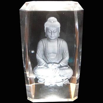 Kristallkub Buddha