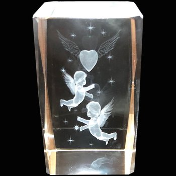 Kristallkub Änglar