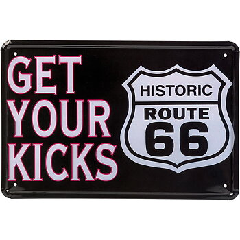 Plåtskylt - Route 66