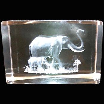 Kristallkub Elefanter