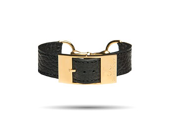 Gold Bite Leather Bracelet