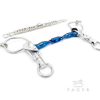 Fagers Icelandic Titanium Double Jointed Short Shanks bit - SABINA