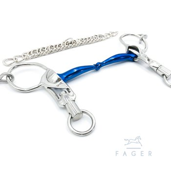 Fagers Icelandic Titanium FSS™ Single Jointed Short Shanks bit - SABINA