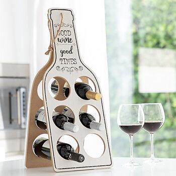 Hopfällbart vinställ i trä Good Wine