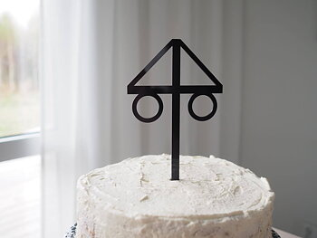 Caketopper Midsommar  Design By S.H