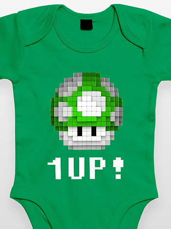 Bodysuit - Green Mushroom