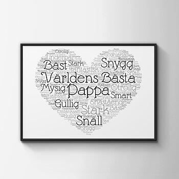 Världens Bästa Pappa hjärta