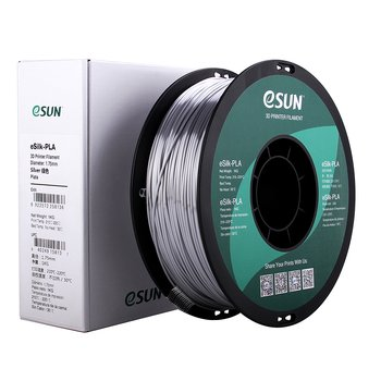 eSun - eSILK PLA (1.75mm - 1 Kg) - Silver