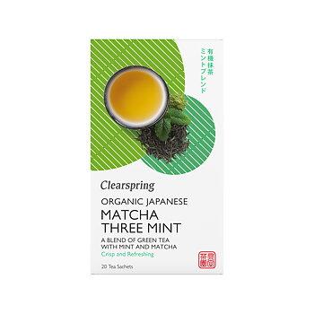 Organic Japanese Matcha Three Mint 20p x4, EKO
