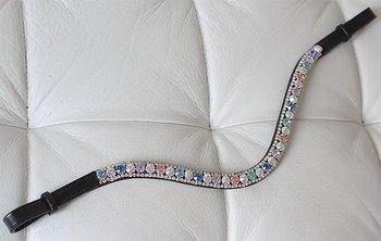Browband 3 rows Multicolor/silver