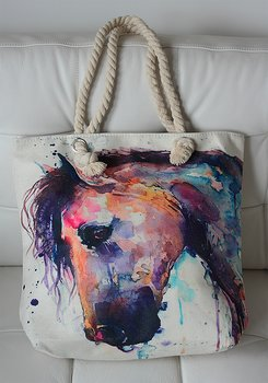 Canvasbag horsehead