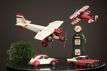 Flygplan Röd/Vit