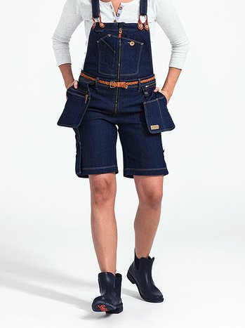 Snickarshorts dam - Flora Worker bib shorts