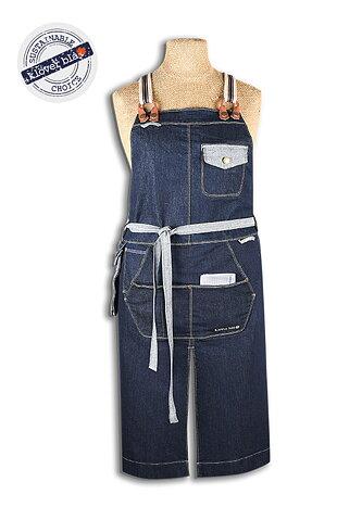 Detroit denim apron - hängselförkläde i denim