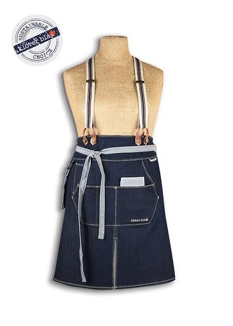 Emmy denim apron - midjeförkläde i denim