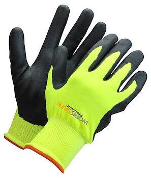 Nitrilbelagd handske nylon/akr Worksafe P30-110W Hi-Wiz