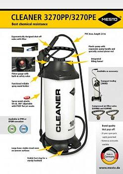 Tryckspruta Cleaner 10 L med EPDM Tätning pH-värde 7-14