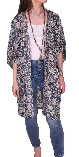 Kimono Sari | Blue/grey