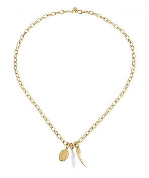 Shell Kort halsband stål med  snäcka - Bud to Rose