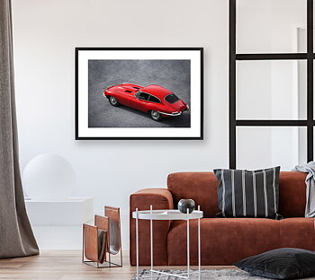 Poster Jaguar E type 4.2  By Mujo