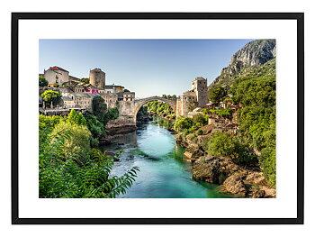 Poster Stari Most i Mostar by Mujo