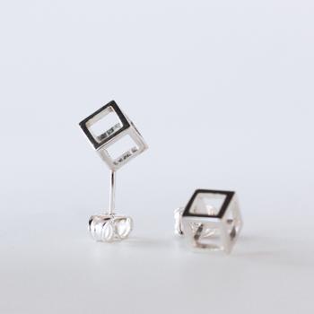 Rå - sterling silver earrings