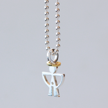 Gloria, small with trousers - sterling silver pendant