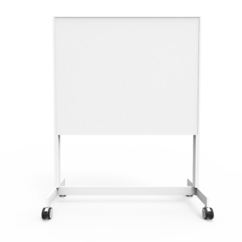 Writing board on wheel stand 1500 double White