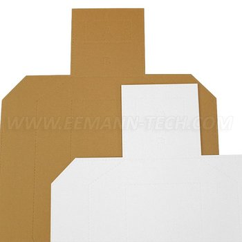 Eemann tech Cardboard Metric Target TAN/WHITE - 100 pcs./pack