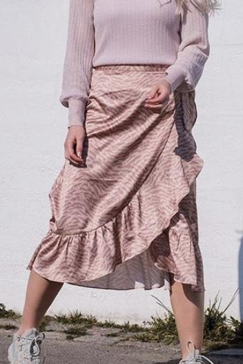 Mika Distressed Zebra Skirt