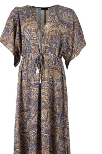 Luna Waistline Kaftan Dress