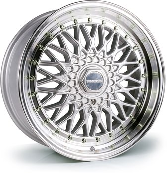 Dare DR RS (Silver Polished / Chrome Rivets) - 8,0x18 5x108, 5x114,3 ET35 CB73,1