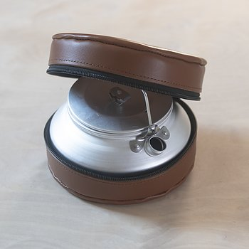 Coffee Kettle in Leather Case
