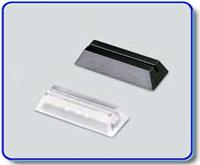 Etiketthållare 18 mm med rak slits, transp