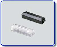 Etiketthållare 18 mm med 25° slits, transp