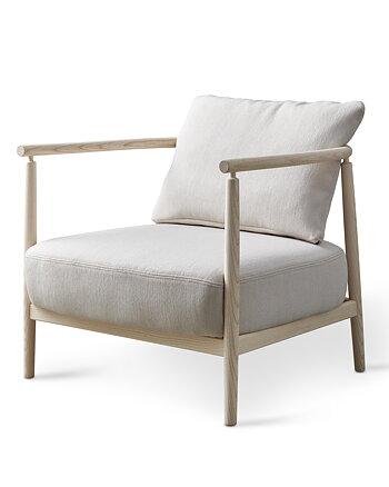 Fåtölj, HUMBLE, Pierre Sindre,  Trä Vitoljad / Textil Sand