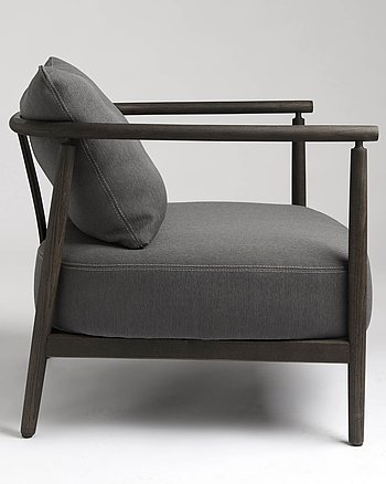 Armchair, HUMBLE, Pierre Sindre,  Wood Brown /  Fabric brown
