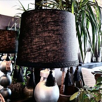Lampskärm 30 - Tofs Svart