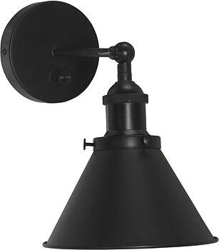 Vägglampa - Mattsvart