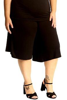 Culottes med resårmidja, svart