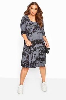 Klänning i swingmodell med fickor, batik