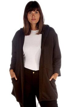 Hoodtröja med änglavingar, svart