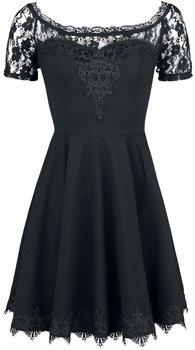 Exklusiv svart klänning med spets