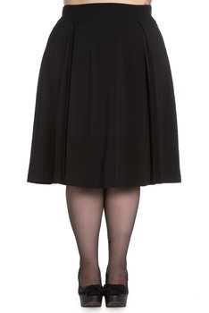 50-talsinspirerad kjol med tygklädda knappar