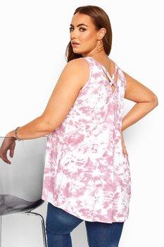 Linne med korsade band i rygg, rosa batik