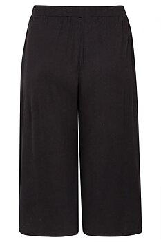 Svarta culottes med fickor